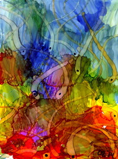 Alcohol Ink Painting 11 (thumbnail)