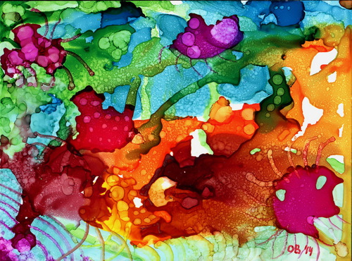 Alcohol Ink Painting 17